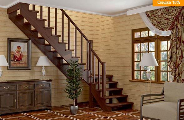 Лестница на второй этаж в частном доме цена